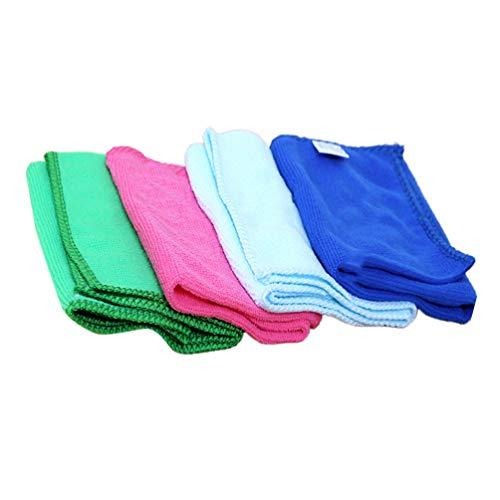 Artibetter 4 Stks Microfiber Schoonmaakdoekjes Super Absorberende Stofdoeken Vierkante Polijsten Sjaal Voor Schilderen Tekening Thuis Keuken (Willekeurige Kleur)