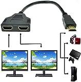 HDMI Male to Dual HDMI Female 1 to 2 Way HDMI...