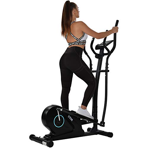 WEIGEL 2021 Model Elliptical Machine Trainer, Home Cross Trainer with LCD Monitor and Pulse Rate Grips Magnetic Smooth Quiet Driven,8 Level Magnetic Resistance, Cardio Workout