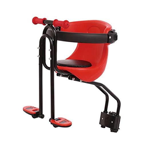 COEWSKE Sillines de Bicicleta para Niños Asiento de Bicicleta Asiento Delantero de la Sillín para Bicicleta de Montaña (Rojo)