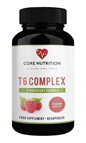 Powerful Keto Diet Pills - Weight Management - Keto Pills for Weight Loss - Natural Burner – T6 Keto Complex – Raspberry Ketones – Appetite Aid – Keto Pills - 90 Capsules (1 Month) Core Nutrition UK