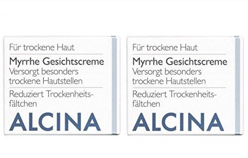 2er T Myrrhe Gesichtscreme Pflegende Kosmetik Alcina Versorgt besonders trockene Hautstellen je 50 ml = 100 ml