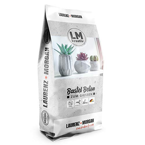 LM-Kreativ LM Bastel-Beton Premium Qualität (20 kg) Beton zum Basteln, Bastel-Beton, Beton für Kreative, Kreativ-Beton, Hobby-Beton, Viva Decor
