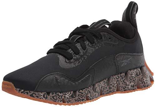 Reebok womens Zig Dynamica Sneaker, Black/White/Gum, 9 US