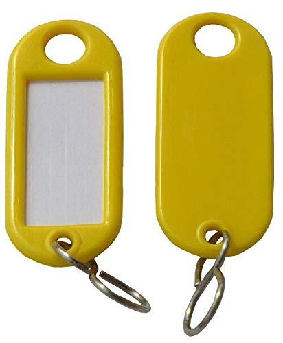 Schlüsselanhänger / Schlüsselschilder 25 Stück gelb S-Haken Fa.ars