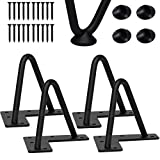 CONNOO 4 Inches Hairpin Furniture Legs, Heavy Duty Coffee Table Legs with Floor Protector - Black Metal Home DIY Projects for Table, Sofa, TV Stand, Modern Desk 4 PCS