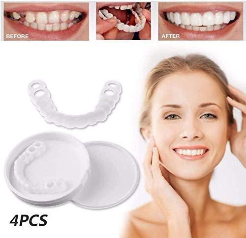 Kosmetische Zähne weiß schön und ordentlich sofort perfektes Lächeln Bequeme Passform elastisches Zahnfurnier Wiederverwendbare und abnehmbare Zahnpflege