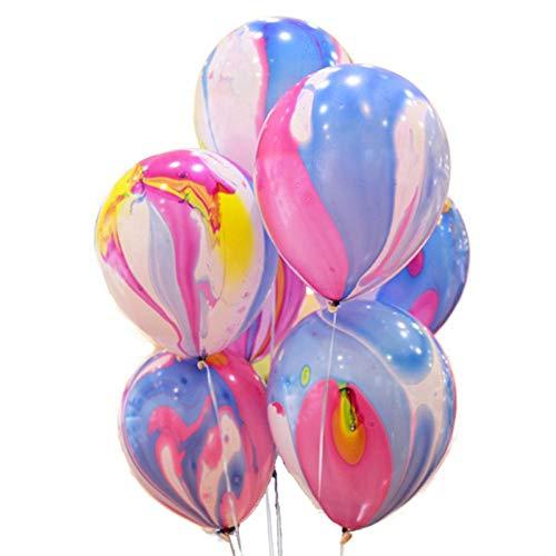 SFBBBO Globos de cumpleaños Globos de látex con Estampado de Arco Iris Globos de Nubes de Colores inflables decoración de Boda Globos de Fiesta de cumpleaños Suministros 50 Uds