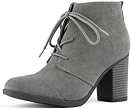 Best gray chunky heel boots Reviews