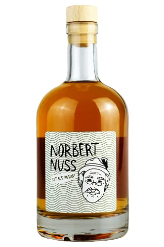 Norbert Nuss| Feinster Haselnusslikör | 500ml | 20% Alkohol | Feine Spirituose | Ideal als Geschenk