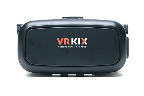 VRKiX Virtual Reality 3D Glasses, VR Headset for 360 Degree Viewing in Smartphone, Compatible with Google Cardboard app, Black