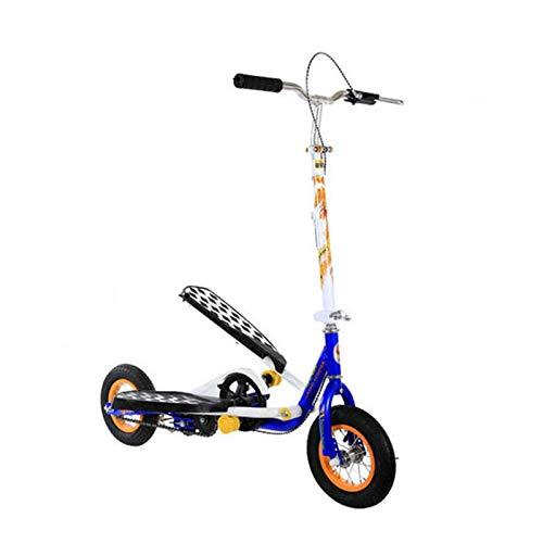 Uppblåsbara gummihjul tonåringar pedal vikbar scooter, träning stegare scooter cykel spark scooter för pojkar/flicka/vuxen ålder 6 år gammal och upp