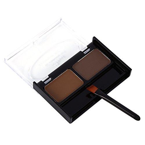 ceja en polvo Kit de maquillaje impermeable de cejas en polvo para cejas con cepillo Por Filfeel(#3)