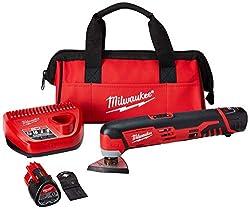 Milwaukee 2426-22 M12 Cordless Multi-Tool Kit, 2 Batteries