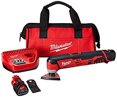 Milwaukee 2426 22 M12 Cordless Multi Tool Kit, 2 Battery
