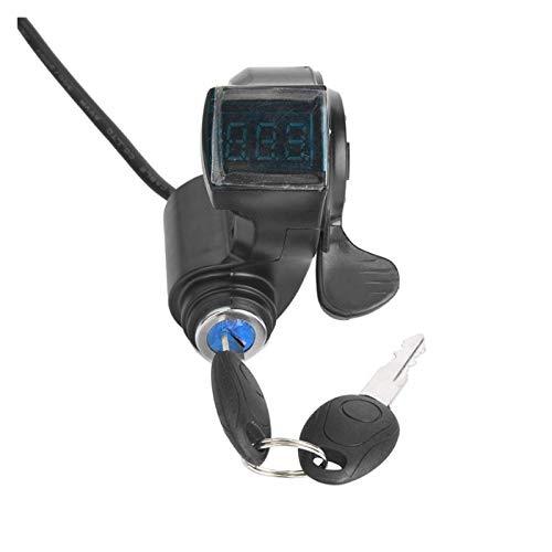 YJSS JXXXJS E-Bicicleta Thumb Acelerador Pantalla LCD Digital batería Voltaje Interruptor de alimentación eléctrica vehículo e-Bike Motor Acelerador e-Bike Partes