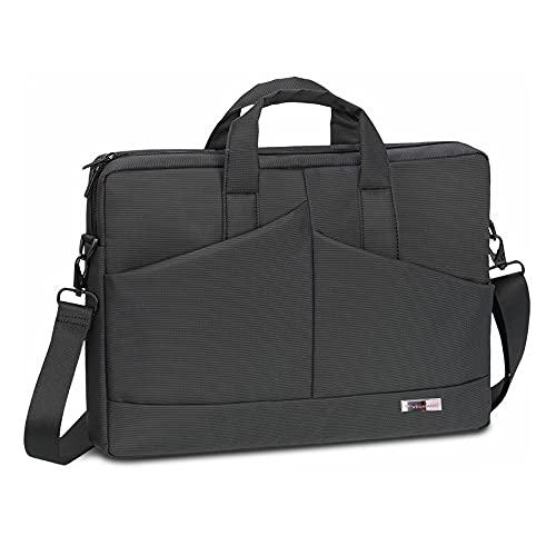 VEGMANN 6457 | Laptoptasche 17.3 Zoll | Notebook Tasche 17 Zoll | Aktentasche | Wasserdicht | Umhängetasche | Schultasche Lehrer | Arbeitstasche Damen Herren (Schwarz 17,3 Zoll)