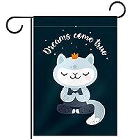 ホームガーデンフラッグ両面春夏庭屋外装飾 12x18INCH,漫画の猫