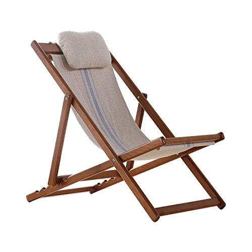 Ménage Chaise inclinable en bois pour l'extérieur Chaises pliantes pliantes Chaise longue Chaise de plage Chaise Nap (Couleur : A)