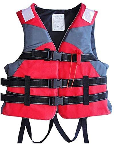 WANGT Chaleco Salvavidas Al Aire Libre para Adultos,Unisex Kayak Esquí Flotabilidad Pesca Deportes Acuáticos Seguridad Chaleco Salvavidas Chaleco con Silbato Equipo de Natación,Red