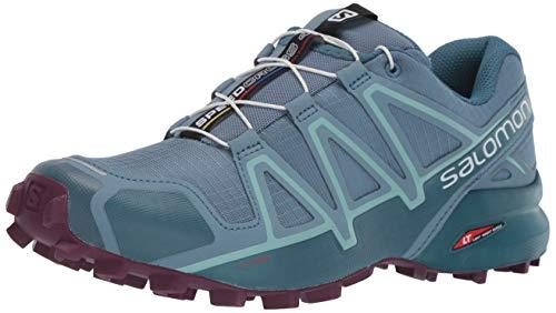Salomon Women's Speedcross 4 Trail Running Shoes, Bluestone/Mallard Blue/Dark Purple, 11