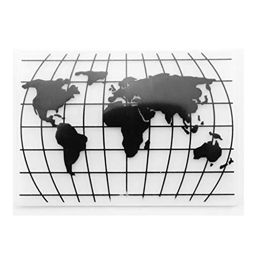JIACUO Plastic Embossing Folder Sjabloon DIY Scrapbook Foto Album Kaart maken Decoratie Craft Wereldkaart