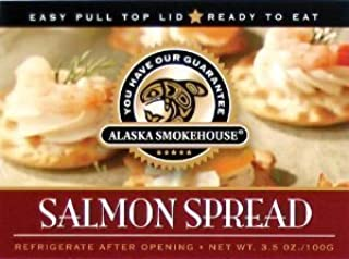 Alaska Smokehouse Salmon Spread Serving  Design, 3.5 Ounce Boxes (Pack of 6)