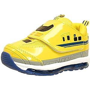 [プラレール] TOMY 光るスニーカー N700系 運動靴/ベルクロ/マジックベルト キッズ (16170【イエロー】18cm)