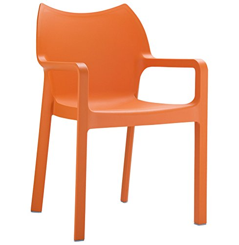 Alterego - Chaise design de terrasse 'VIVA' orange en matière plastique