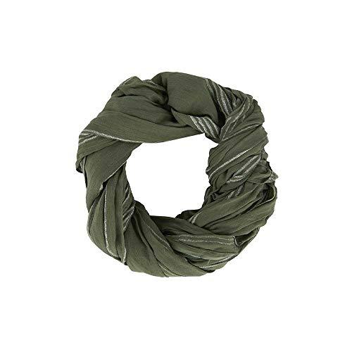 IB Laursen Denmark Halstuch Streifen olivgrün