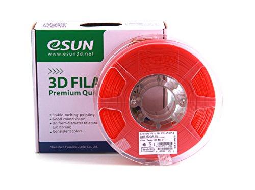 eSun - Filamento para impresora 3D PLA+, 1,75 mm, 1 kg, color rojo