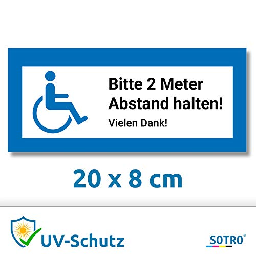 Aufkleber Rollstuhlfahrer Auto, Rollstuhl Symbol/Zeichen, Parken mit Behinderung, Rollstuhlaufkleber, Behindertenaufkleber, Rollstuhlzeichen, Autoaufkleber (Blau, Rechteckig, 20x8 cm)