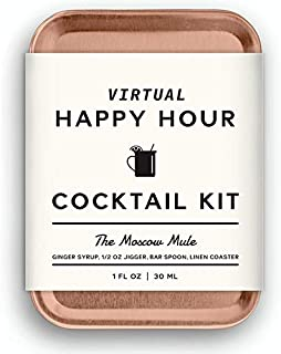 W&P The Virtual Happy Hour Cocktail Kit, Moscow Mule | Make at Home Craft Cocktails | No Bartending Skills Required | Just...