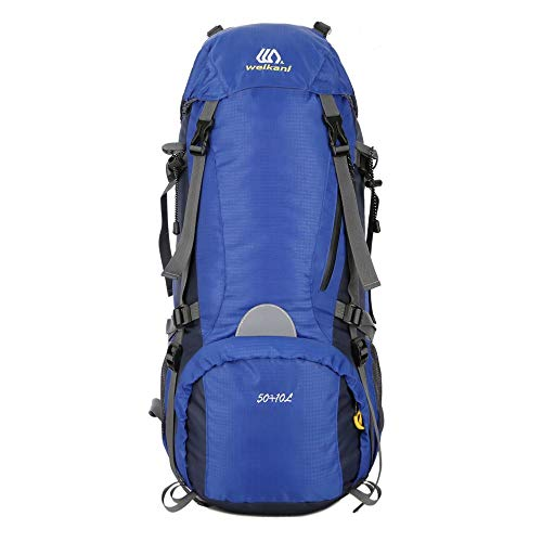 Waterproof Travel Backpack 50L Hiking Backpack Trekking Rucksack Waterproof Hiking Rucksack Trekking Backpack Outdoor Sports Mountaineering Camping Traveling Climbing Backpack External Frame Camping