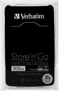 Verbatim 500GB Store 'n' Go Combo FireWire 800 and USB 3.0 Portable External Hard Drive for Mac, Black 53042