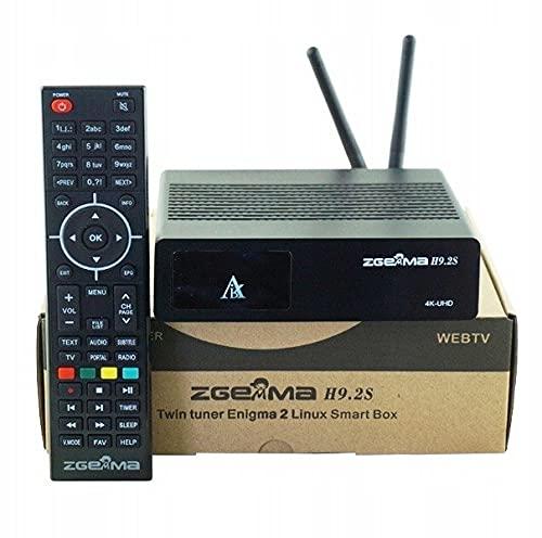 Zgemma H9.2S - Sintonizador doble (DVB-S2X, 4K, UHD, 2160p, FTA, satélite, Wi-Fi)
