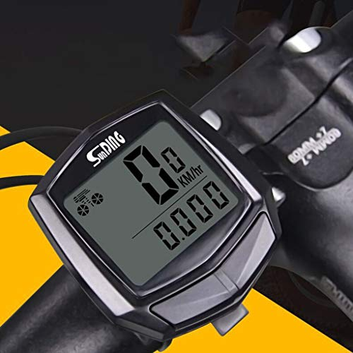 Mix Vogue Bicycle Computer Wired Speedometer, Waterproof Cycling Odometer with Automatic Wake-up LCD Backlight for Outdoor Cycling and Best Gifts for Bikers