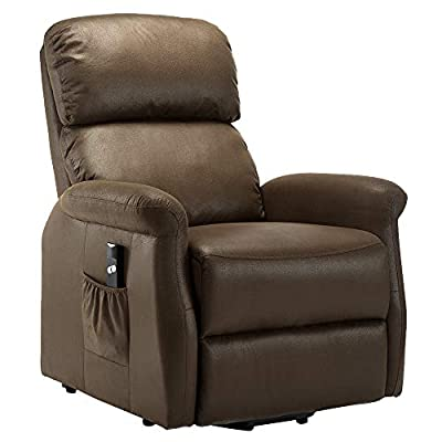 Power Lift Recliner Chair Single Recliner Chair Living Room Sofa Recliner Electric Soft Fabric Recliner Chair Remote Control Chair