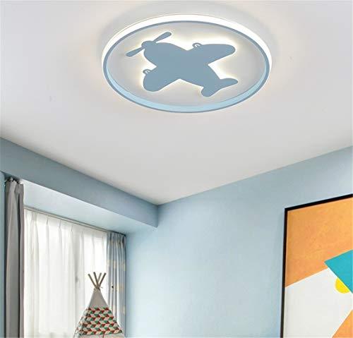 LHY LOFT Aviones LED Infantil Plafón,Infantil Lámpara De Techo,Infantil Habitación Plafón,El Modelado Lateral Glow Diseño Lámparas Decorativas,Azul