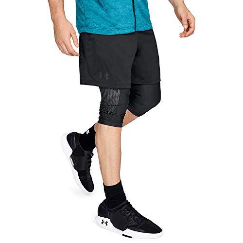Under Armour MK1 Shorts, Pantaloncini Uomo, Nero (Black/Stealth Gray 001), L