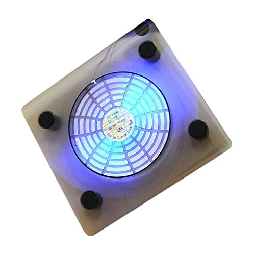 Laileya USB Notebook Cooler luz LED Azul del disor de Calor del Ordenador portátil de la PC Base de enfriiento del cojín del Soporte de la disipación de Calor