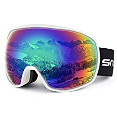 【Full Protection for your Eyes】 the frame of our ski goggles is made of TPU which is environmentally friendly, durable and bendable. So it's very convenient to adjust for your face fitting and protect your eyes. 【Dual-layer lens】 the Skiing Goggles a...