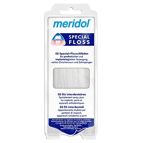 Meridol speciale fleece draden, 50 stuks