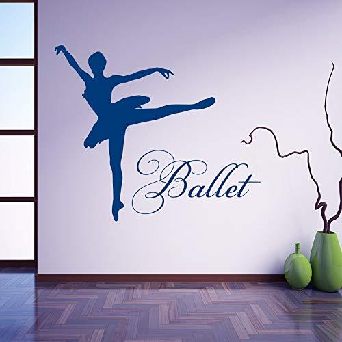 mlpnko Vinyl Aufkleber Balletttänzer tanzen Ballerina Wandtattoos Wohnaccessoires 82X97cm