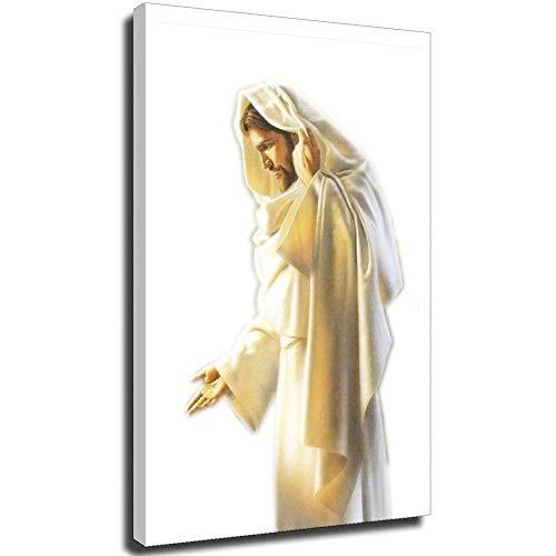 Surfilter Jesus Christus Bilder Fotodrucke auf Leinwand 40 x 60 cm (16 × 24 Zoll) UnFrame