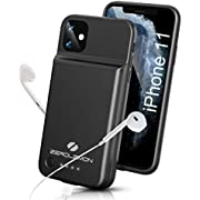 "ZEROLEMON iPhone 11 Battery Case, Qi Wireless Charge + Headphone Support 4500mAh SlimJuicer Portable Protective Case, Compatible with iPhone 11 6.1""/iPhone XR 6.1"""