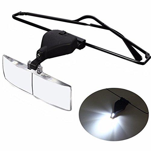 Tutoy 1.5X 2.5X 3.5X Stützgläser Led-Lampen-Lupe Mit Schraubenzieher