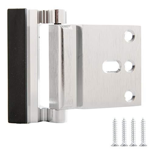 Amazon Basics Door Reinforcement Lock - 1-Pack, Brushed Nickel