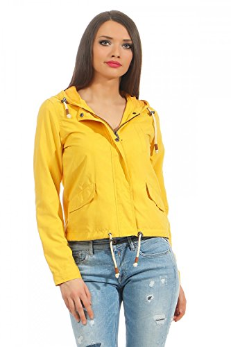 ONLY Damen Parka Übergangsjacke Kapuzenjacke Jacke (38 (Herstellergröße: M), Yolk Yellow)