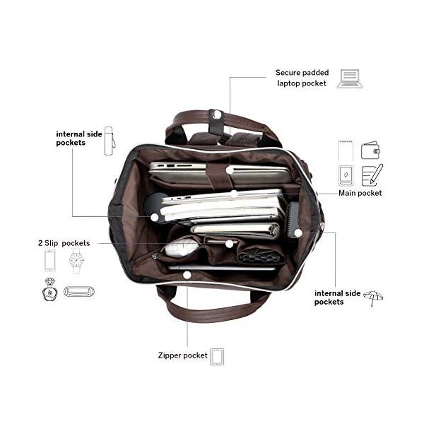 BROMEN Laptop Backpack 15.6 inch Diaper Bag Backpack for Women Waterproof Travel College Daypack Bag 4